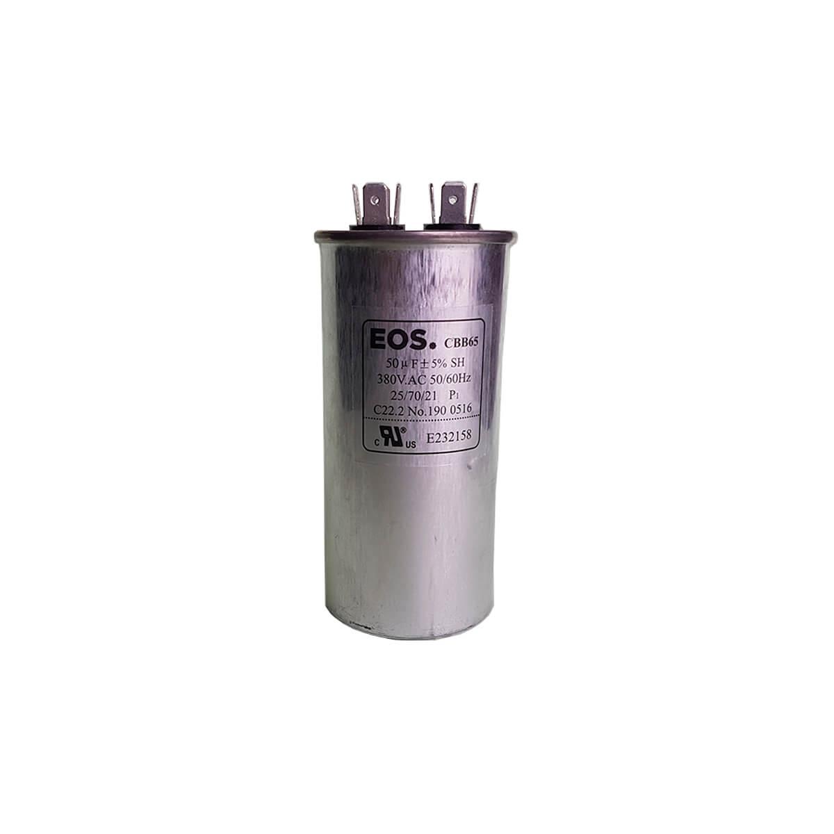 Capacitor 50 UF 380VAC Para Compressor EOS - CBB65