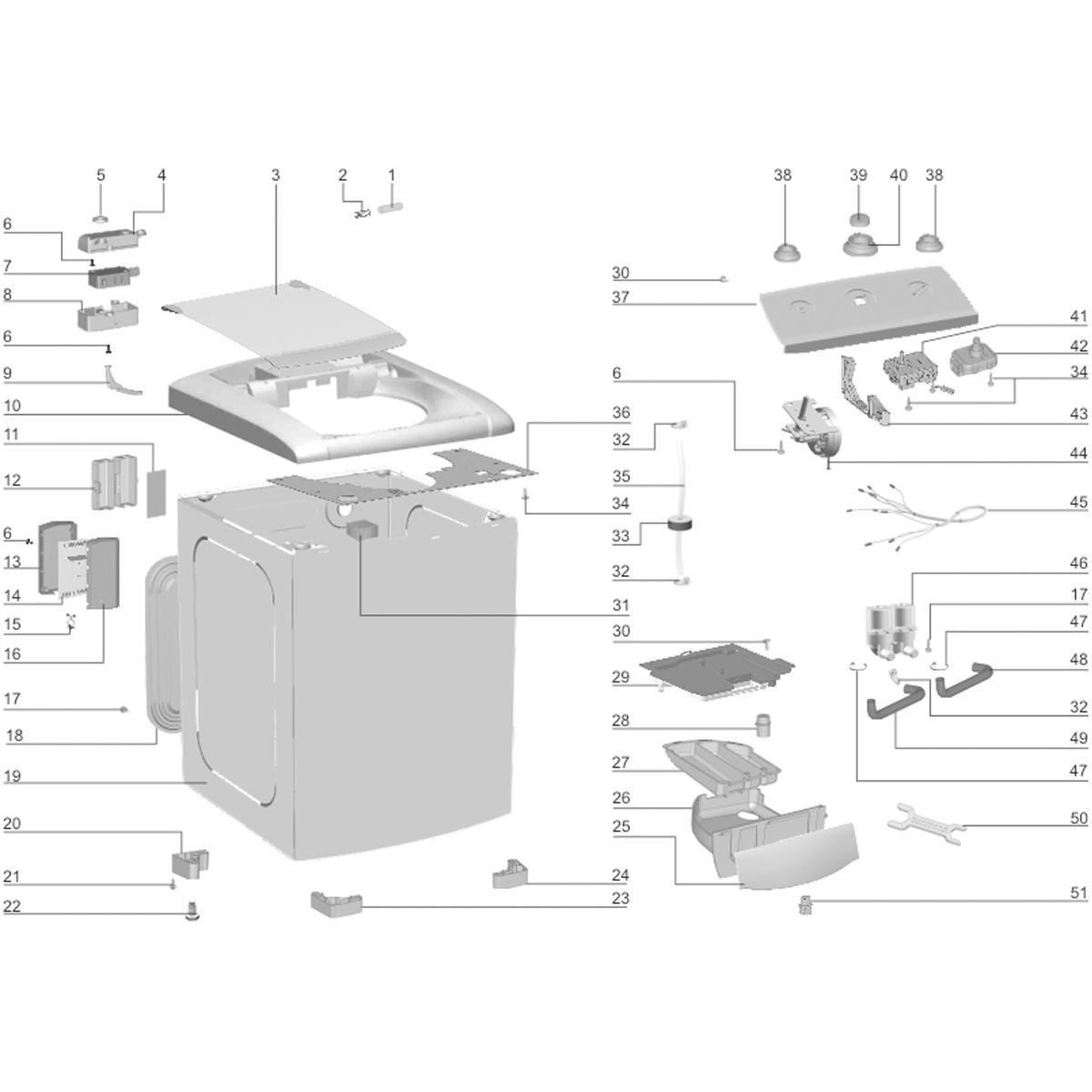 Chave Csi Para Lavadora De Roupas Top Load Ew110 Electrolux - 64484591