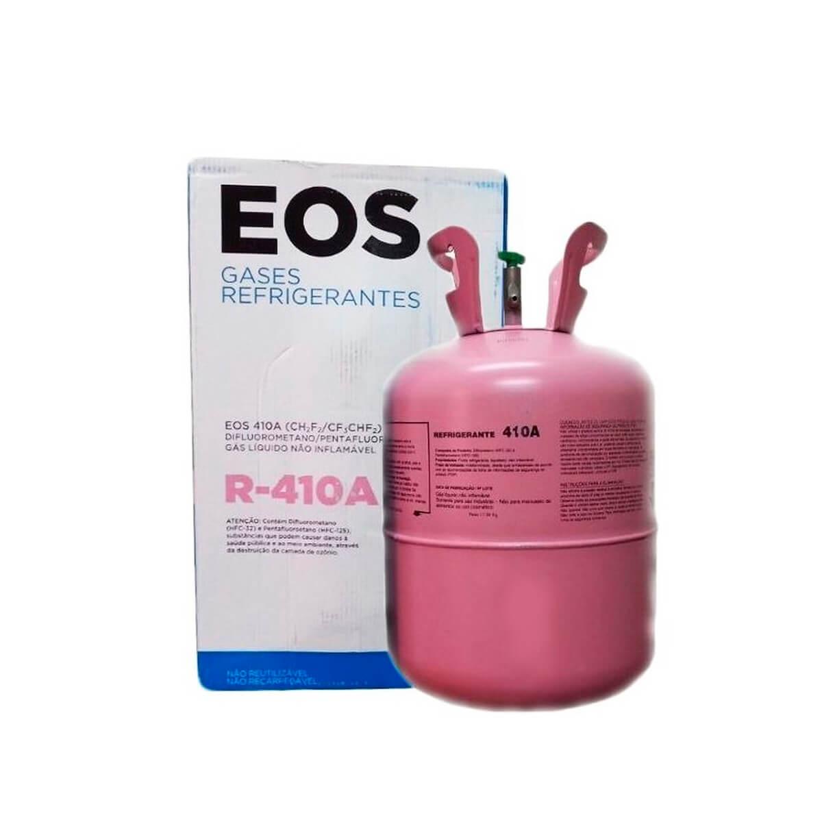 Cilindro De Gás Refrigerante EOS R-410a Rosa Com Válvula 11,3 Kg