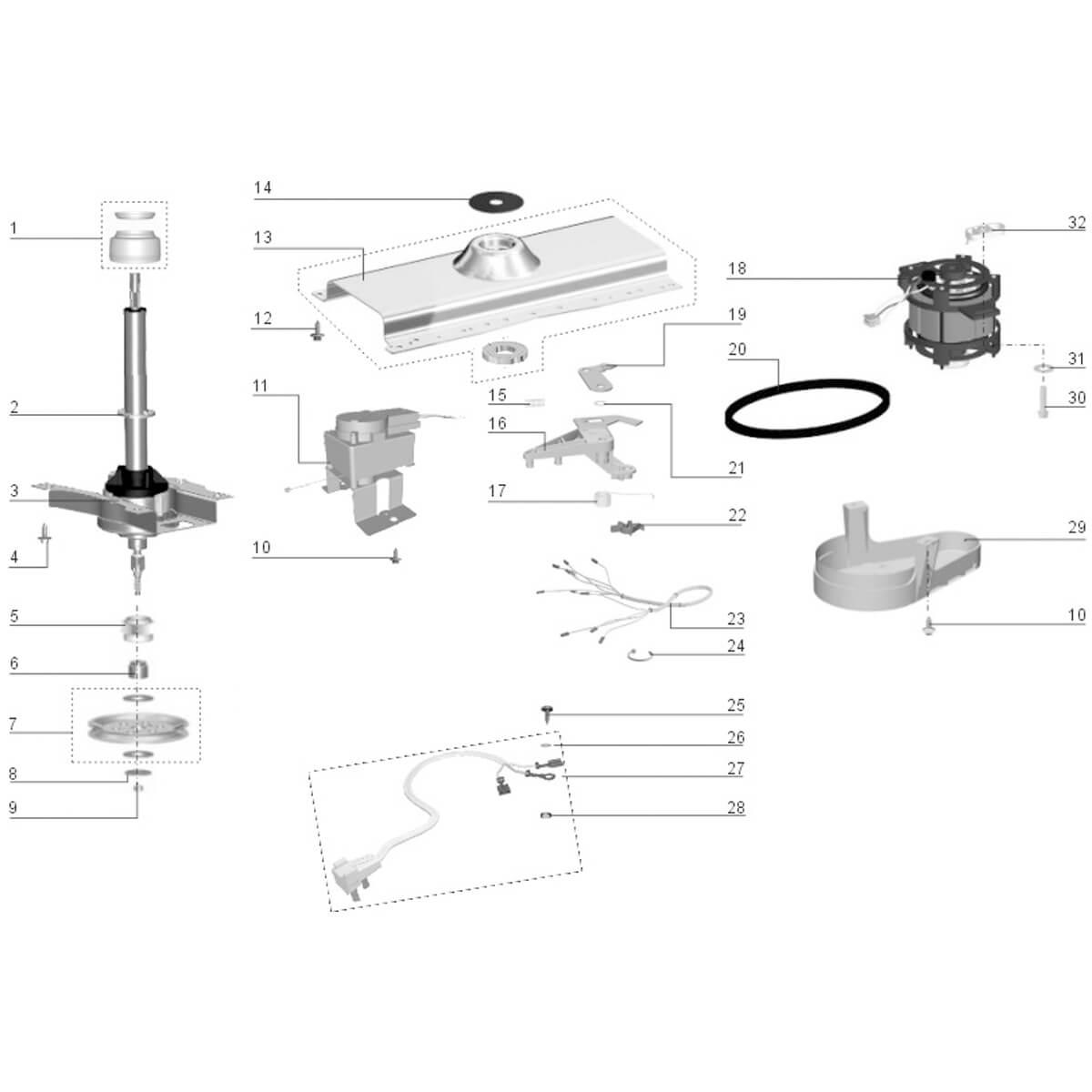 Conjunto De Selo Mecânico Para Lavadoras De Roupa Electrolux Inpacom - 51041128 EL 6/EL 8/LF75