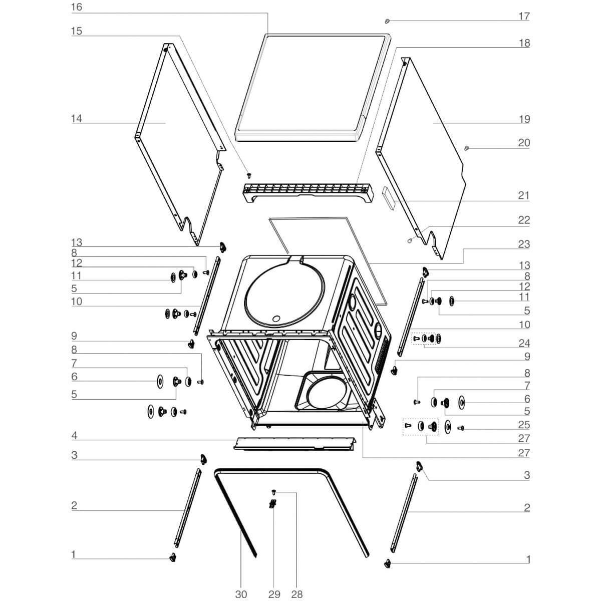 Conjunto Guia Cesto Superior Lava-Louças Electrolux LI14B LI14X LI10B LI10X -  673001400317