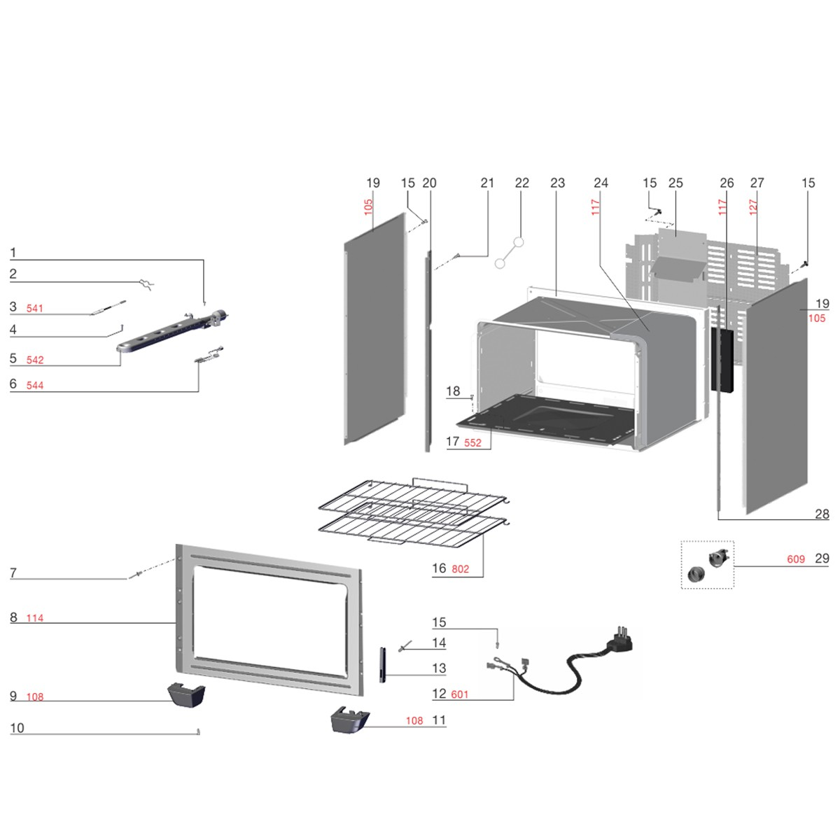 Conjunto Lente E Soquete E14 Para Forno Electrolux -  A04204802