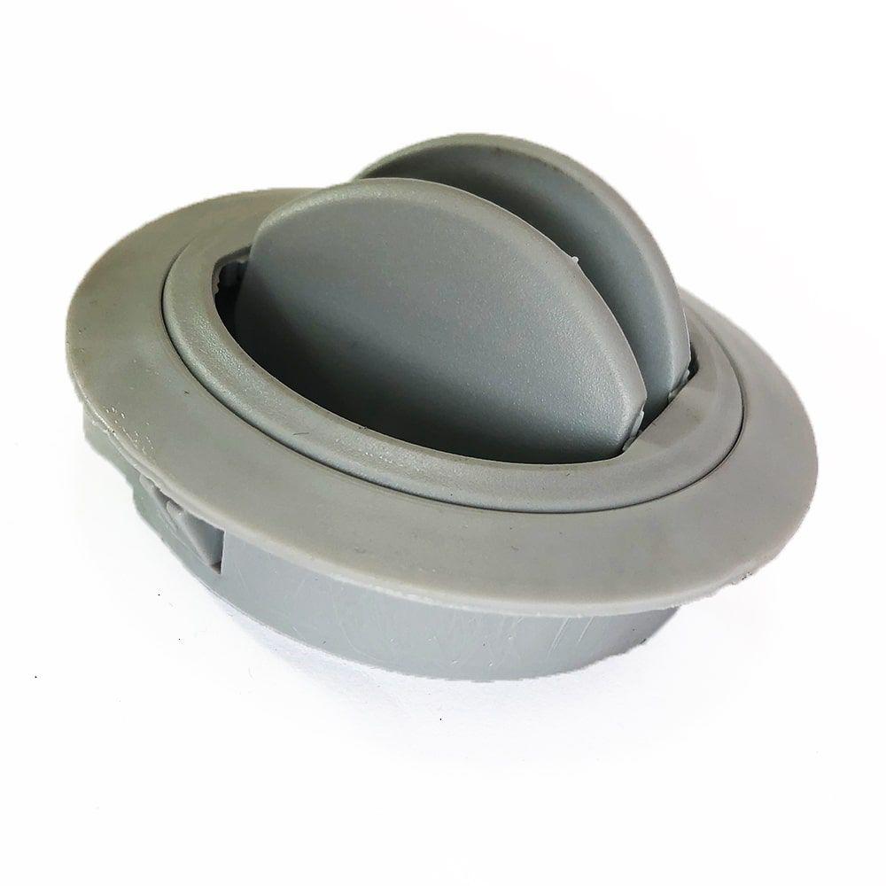 Difusor Ar Condicionado Automotivo Universal Diâmetro 60mm Redondo Cinza