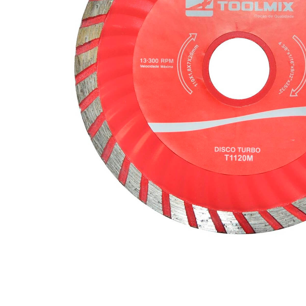 Disco Diamantado Turbo 110X1,8X22,2MM Toolmix - T1120M