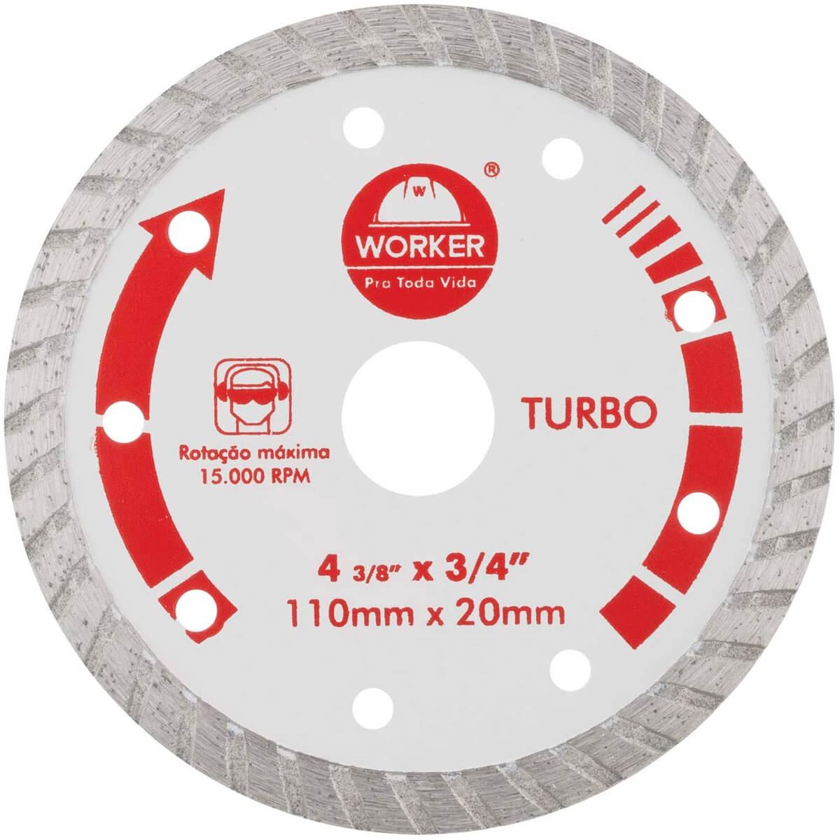 Disco Diamantado Turbo 110X20MM Worker - 139629