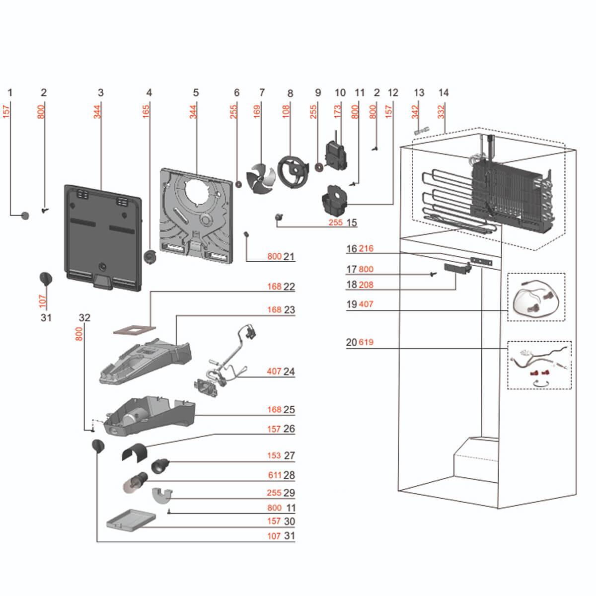 Dobradiça Intermediária Refrigerador Electrolux Df35 Df36 Df38 - 65158599