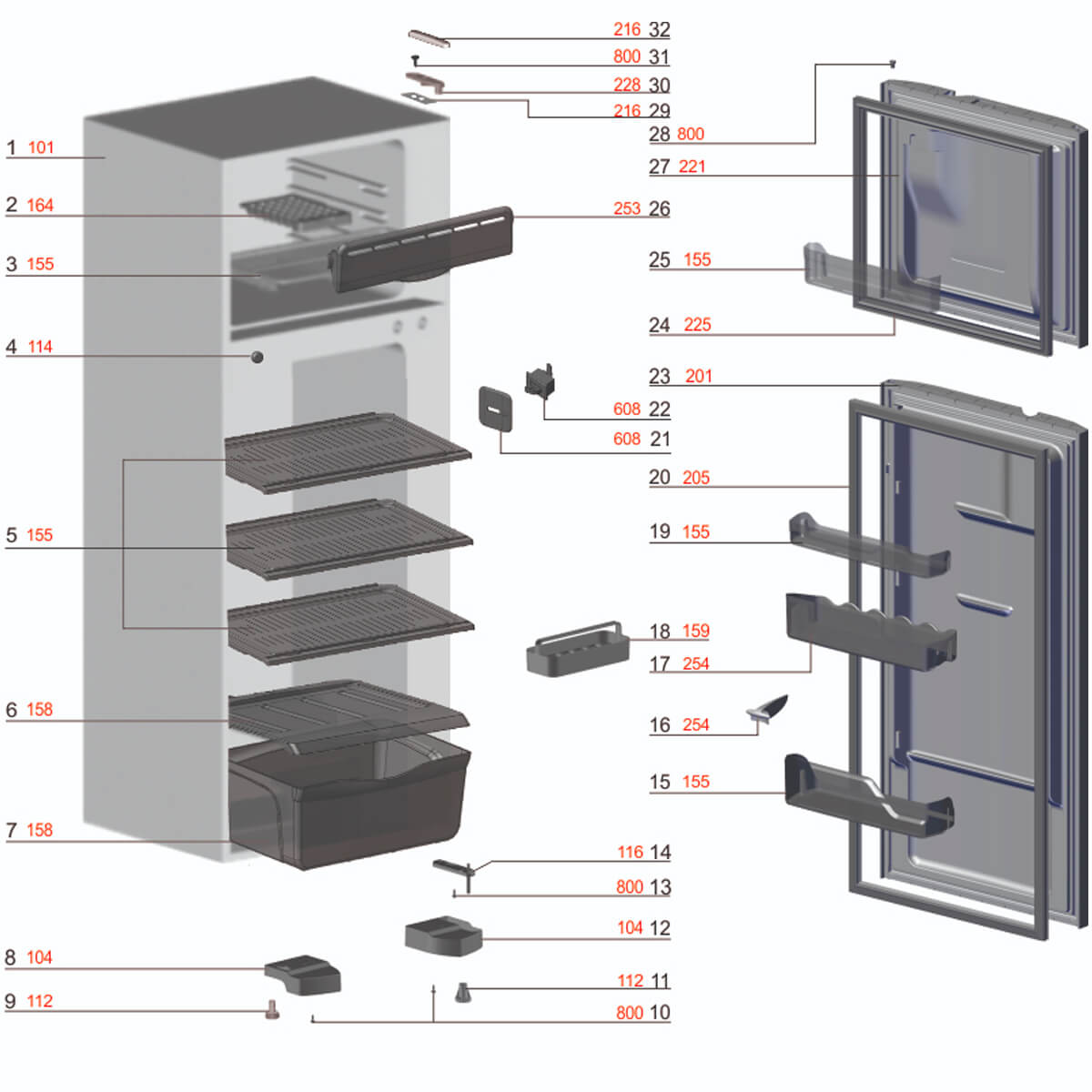 Dobradiça Superior Para Refrigerador Electrolux - 62991008