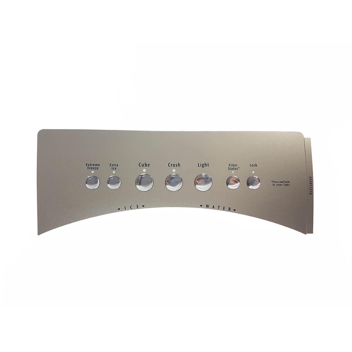 Etiqueta Módulo Prata Metálico Para Refrigerador Electrolux - 41611218