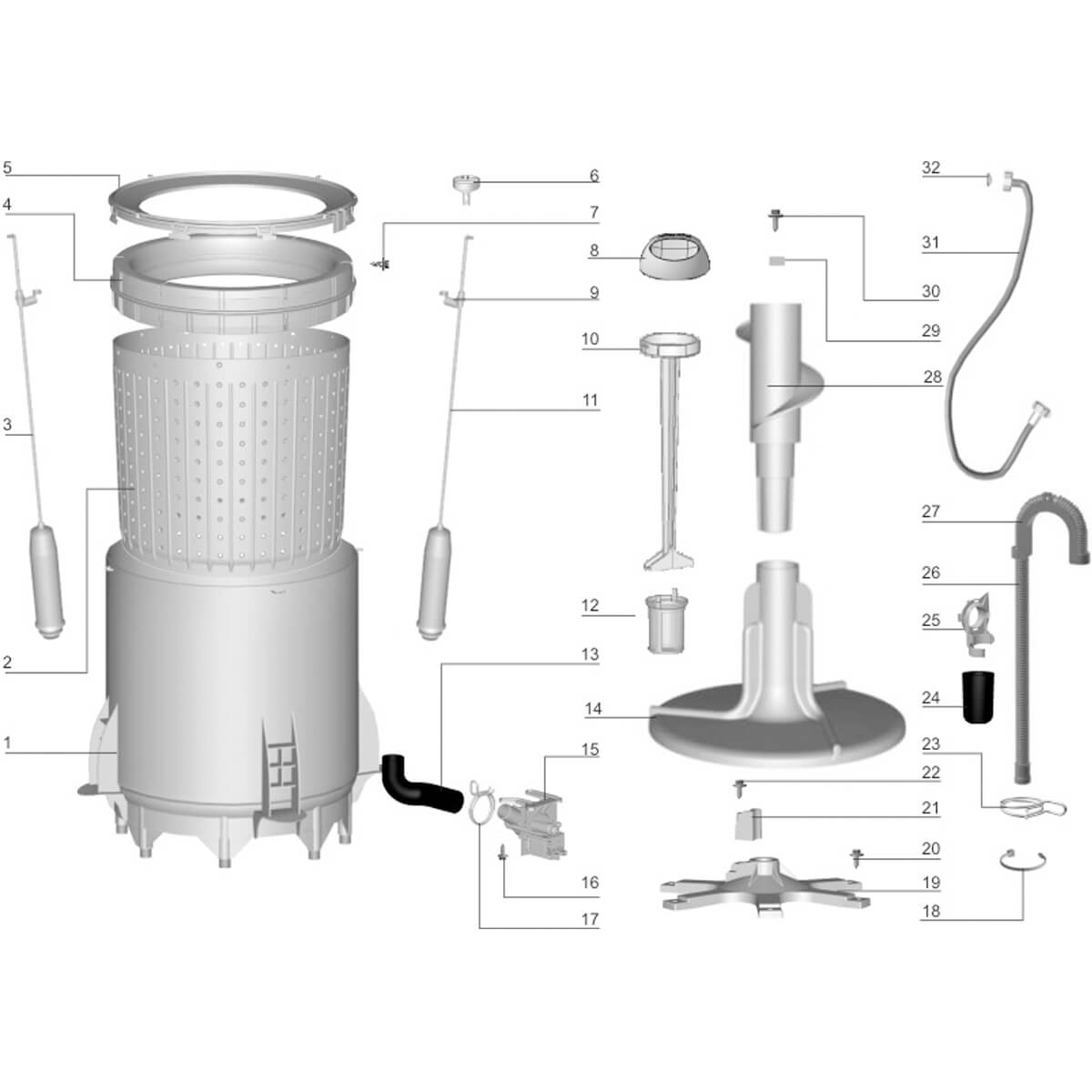 Filtro Pega Fiapos Para Lavadora De Roupas Electrolux LTE09 LTE12 LTC12 LTC07 - 67493304