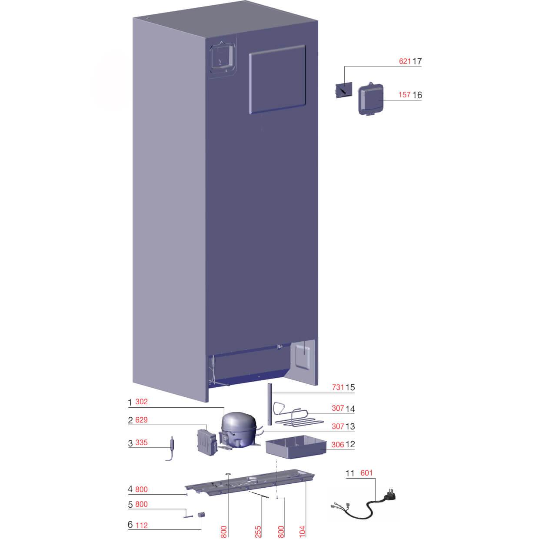 Filtro Sec 12G Tubo Evacuação Refrigerador/Freezer Electrolux -  60200011i
