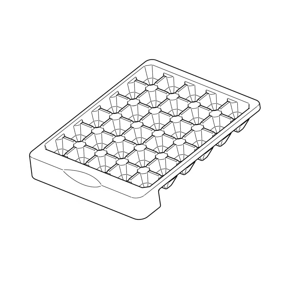 Forma De Gelo Com 30 Cubos Para Refrigerador Electrolux - 67493256