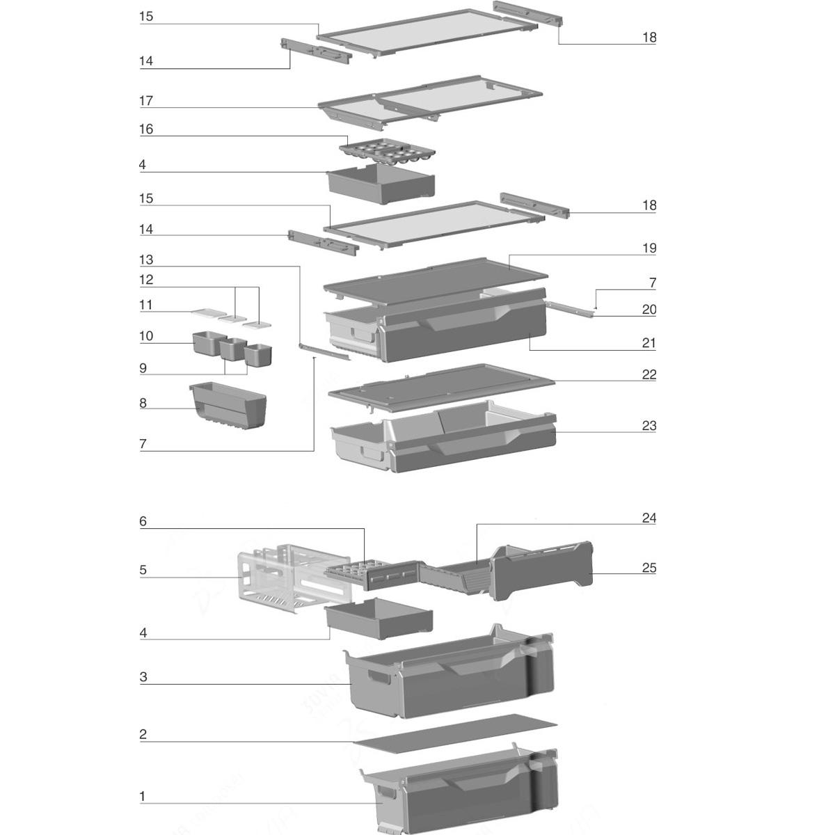 Forma De Gelo Ice Twister Refrigerador Electrolux DB83 DB83X - 70203206