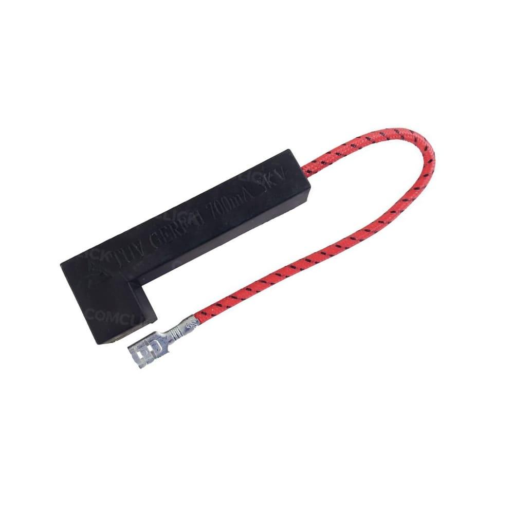 Fusível Alta Tensão Com Alojamento 700mA Para Microondas MEF30 Electrolux - 64502571