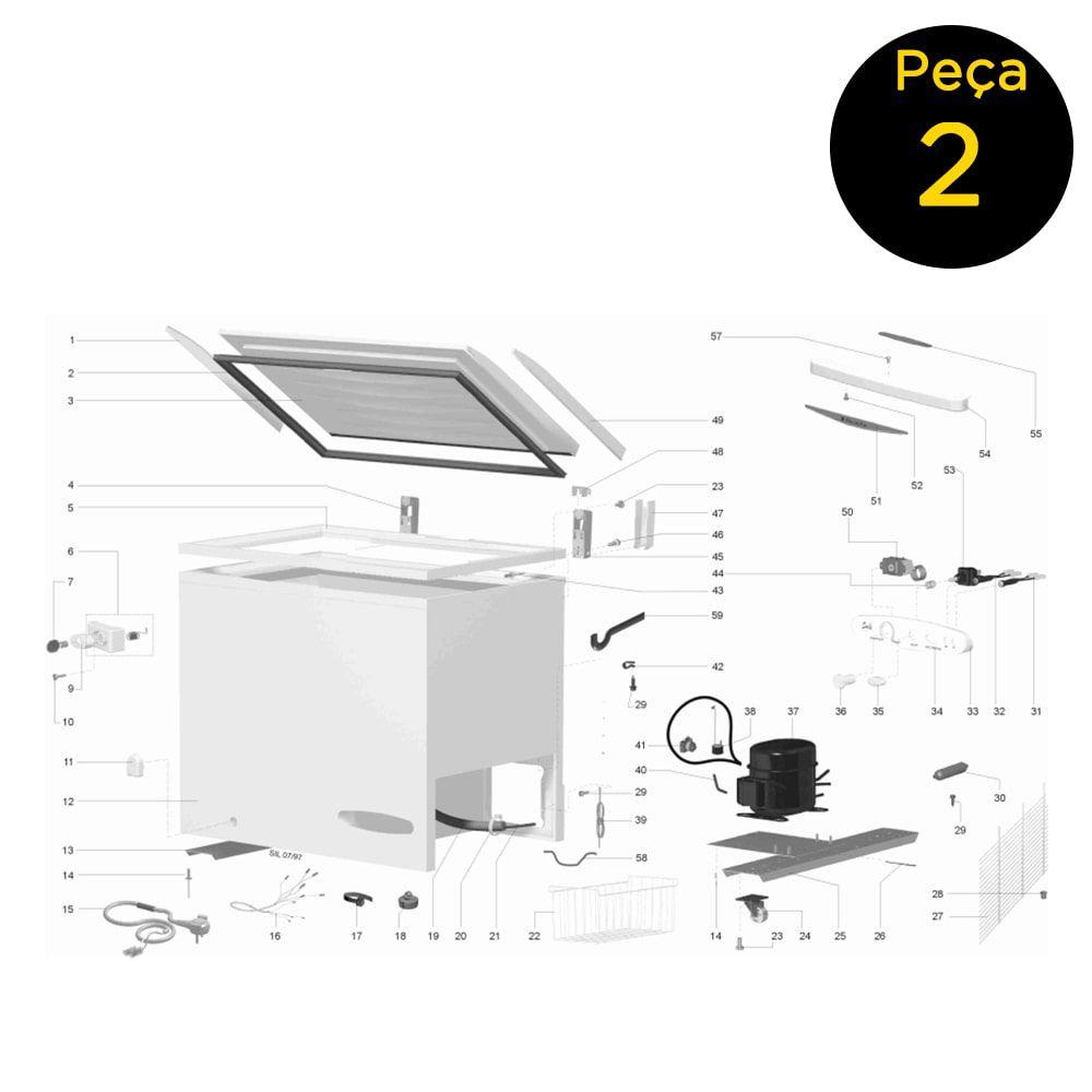 Gaxeta Borracha Freezer Horizontal Electrolux H210 - 450261 - 67300655