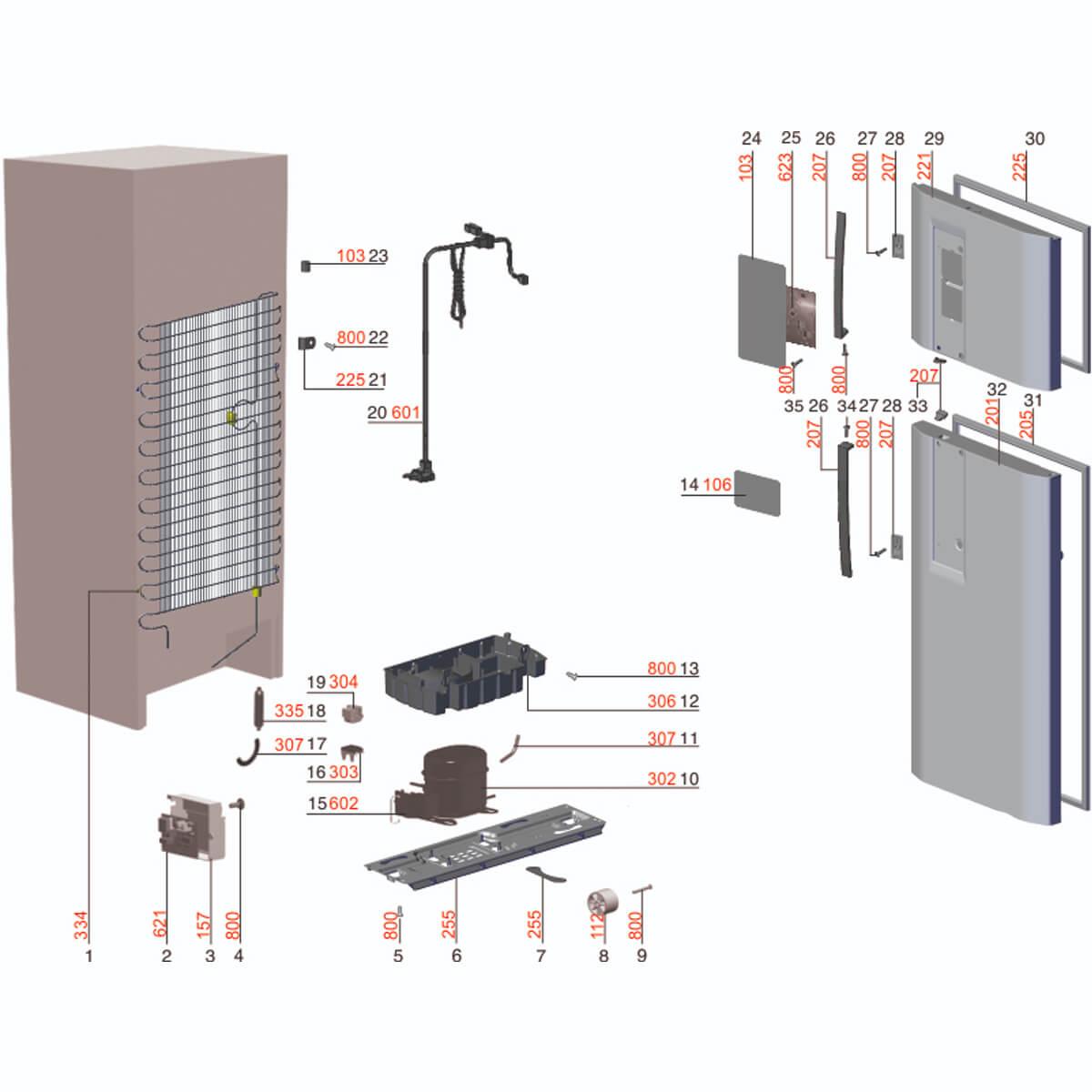Gaxeta Da Porta Do Refrigerador Frost Free Electrolux - A03625402