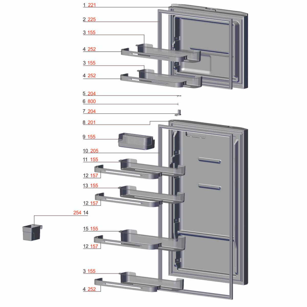Gaxeta Para Porta Do Refrigerador Electrolux - A03625404