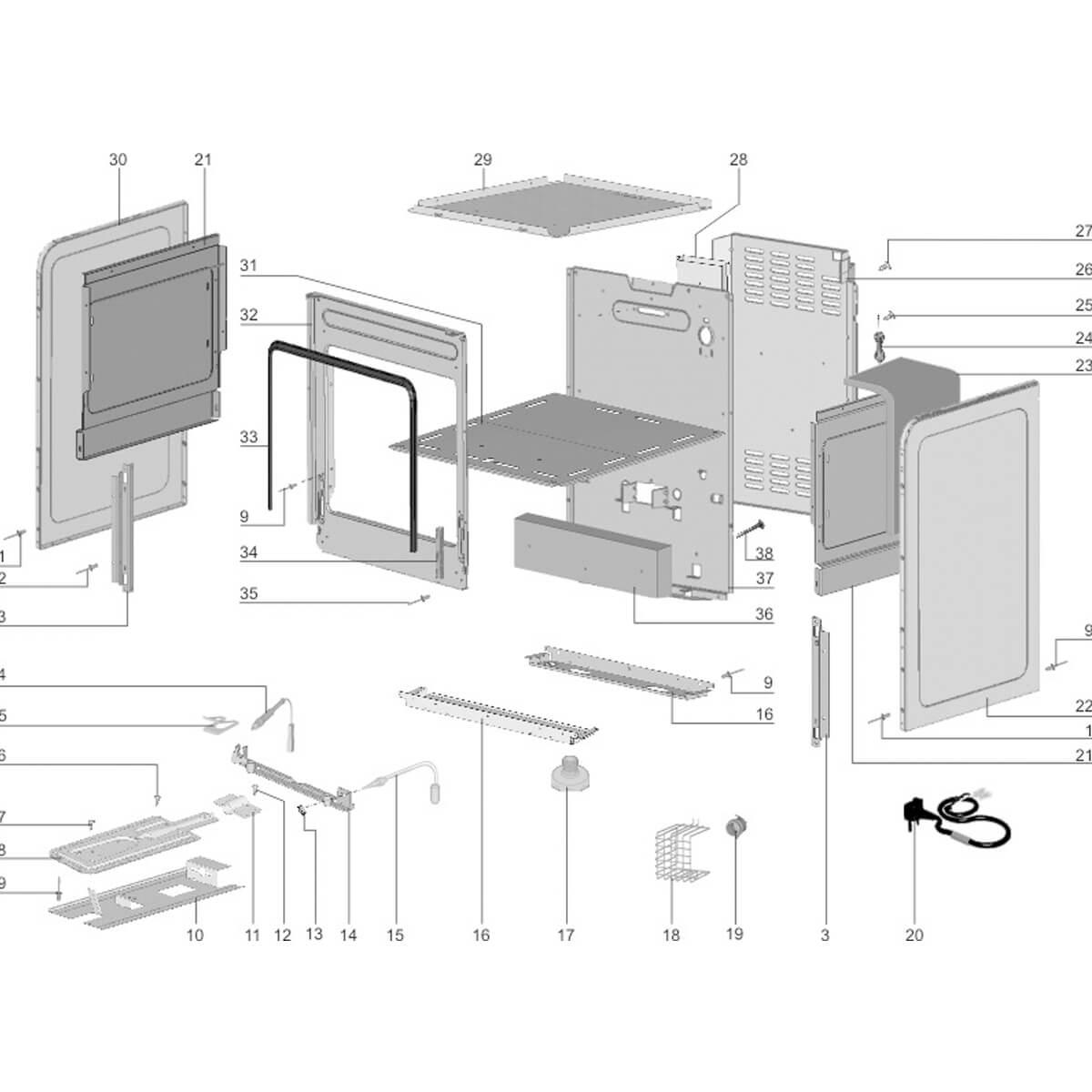 Isolação Do Forno Do Fogão Electrolux - 68490572