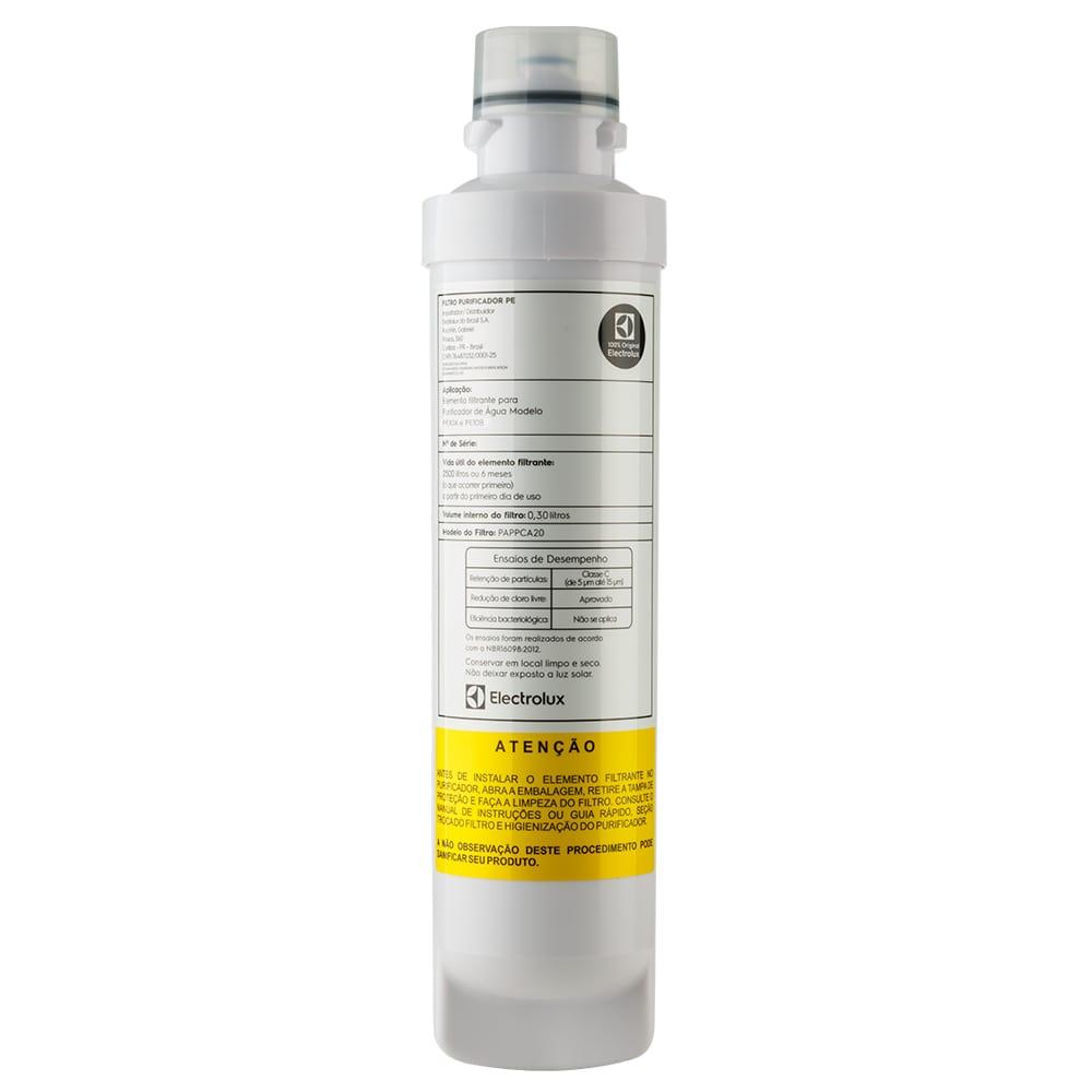 Kit 2 Unidades Filtro Refil Purificador De Água Electrolux Pe10b Pe10x - 80000703