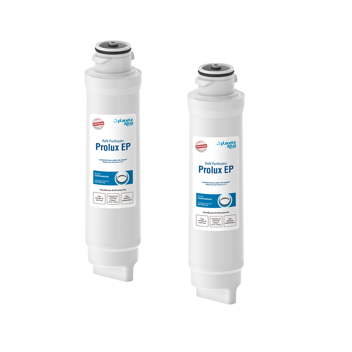 Kit 2 Unidades Refil Filtro Purificador Prolux EP 1082 PE10B PE10X Planeta Água