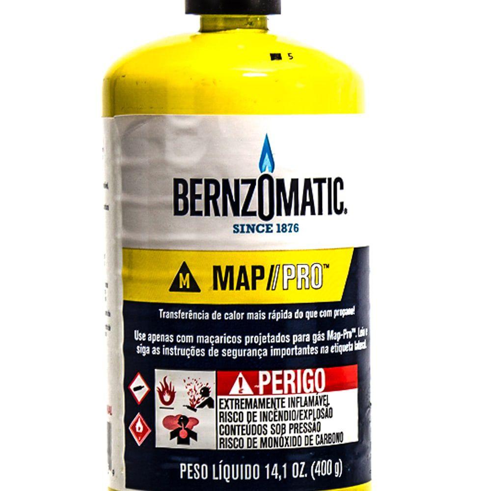 Kit 4 Unidades Cilindro De Gás Refil Map Pro Bernzomatic 400g