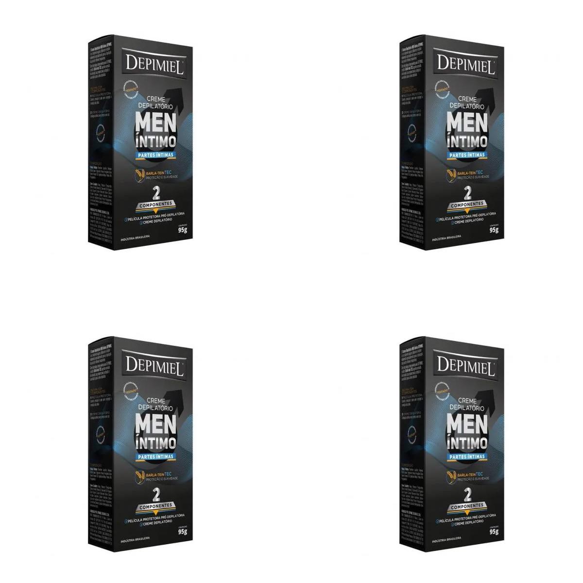 Kit 4 Unidades Creme Depilatório Masculino Partes Intimas Depimiel