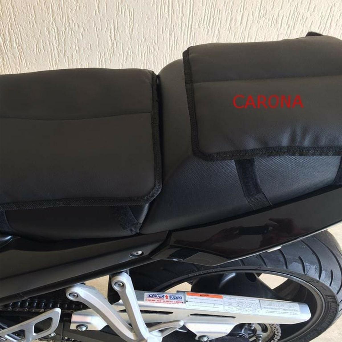 Kit Almofada Em Gel Piloto + Carona Universal Para Motos