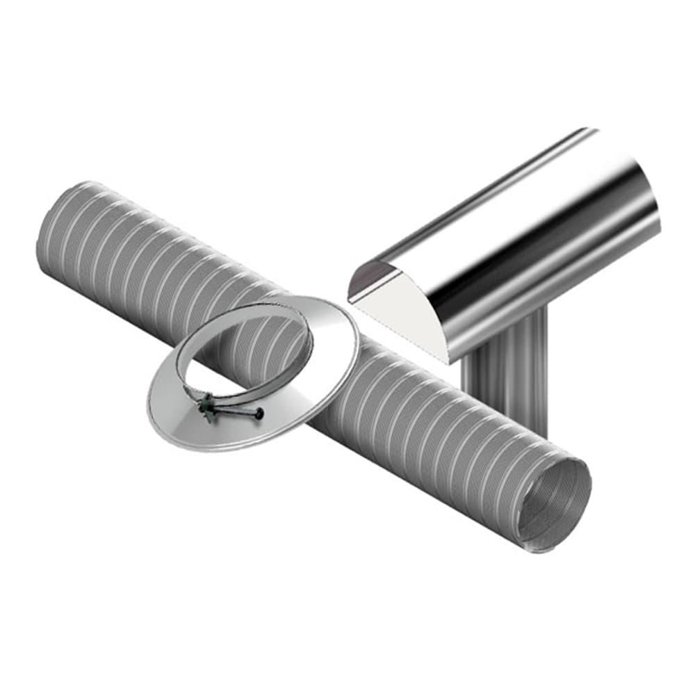 Kit Chaminé Fácil Para Aquecedor a Gás Diâmetro 80mm Comprimento 1,5m