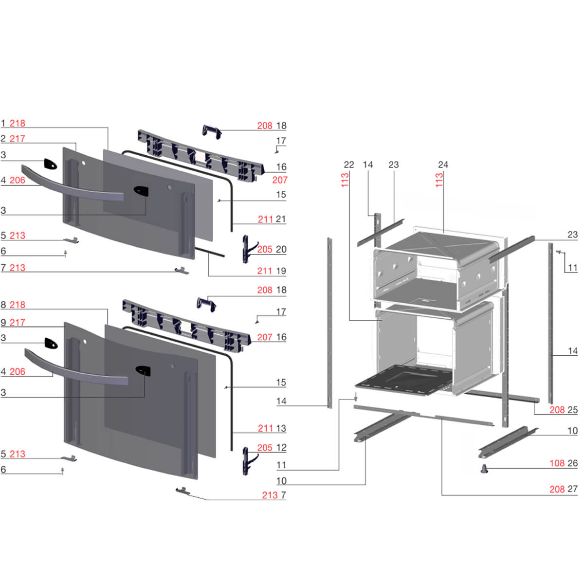Kit Com 10 Rebites 3.2x6.0 FP Para Fogão Electrolux - 61390229
