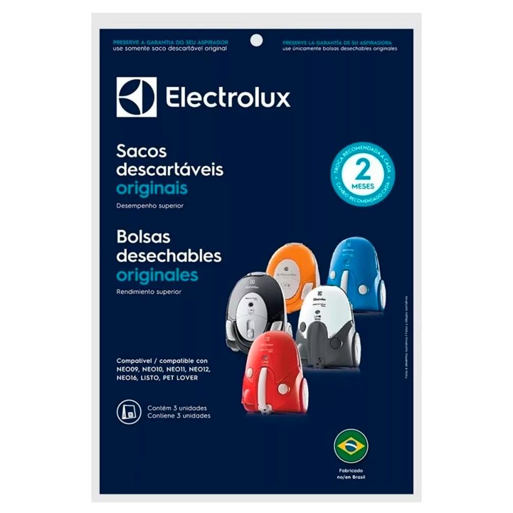 Kit Com 3 Sacos Filtro Para Aspirador Pó Electrolux NEO LISTO PET LOVER - DT30APBR001
