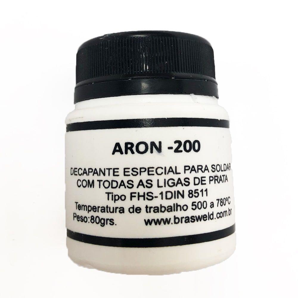 Kit Fluxo Solda Prata 80g Aron + 10 Varetas De Solda Foscoper 200g