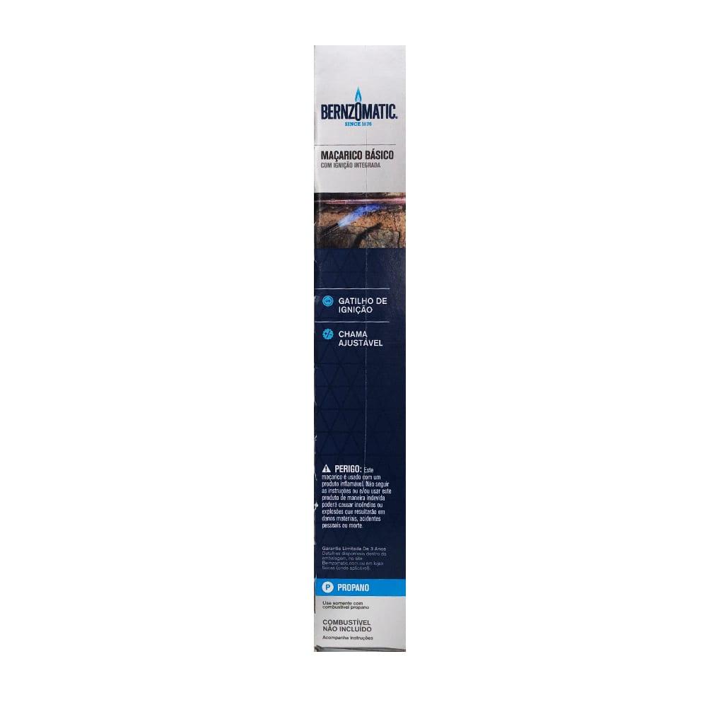 Kit Maçarico Portátil Berzomatic - WT2301 + 2 Cilindro de Gás Propano 400g EOS