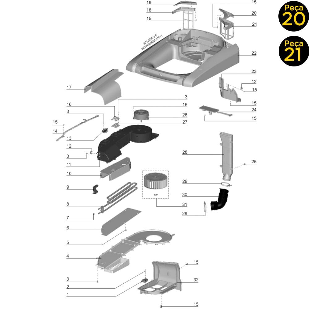Kit Tampa Puxador e Filtro Exaustor Lavadora E Secadora de Roupas LST12 LSW12 LSW15 Electrolux - 67402162 + 67401749