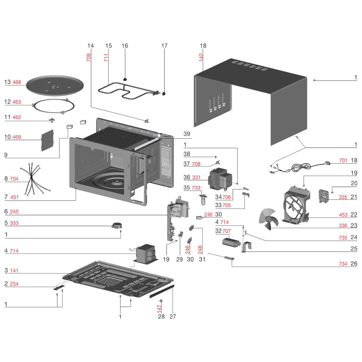 Lâmpada 127V Para Micro-ondas Electrolux  MI41S MI41T MEP41 MEF30 - 64501990