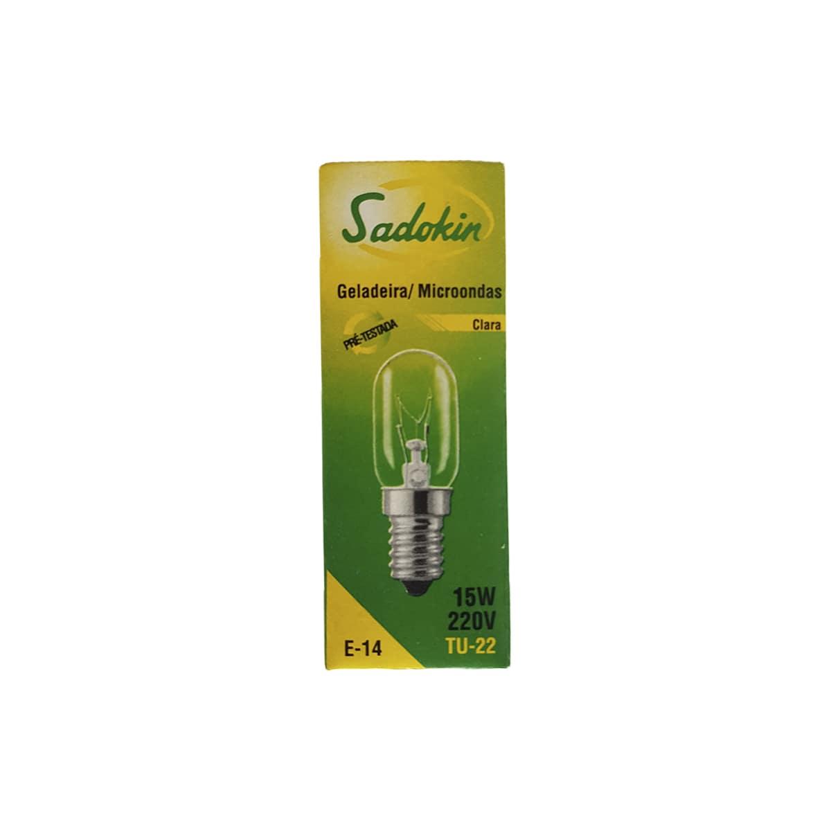 Lâmpada Para Geladeira Microondas Fogão Forno Rosca 14mm 220V 15w E-14