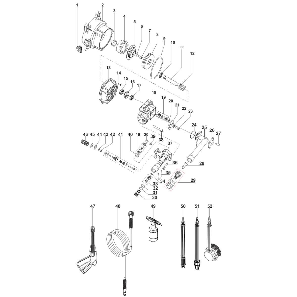 Lança Turbo 023 Para Lavadora De Alta Pressão Electrolux - 70001377