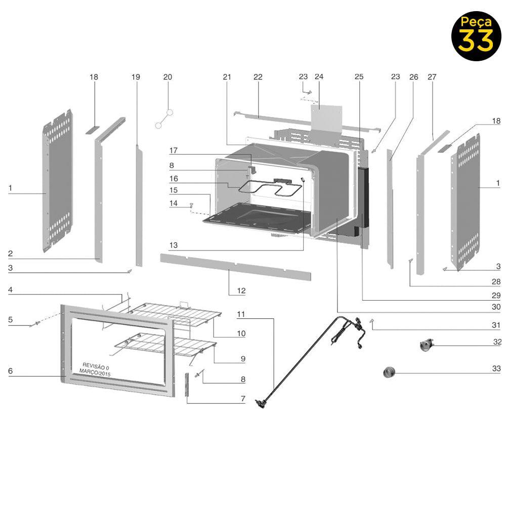Lente De Vidro Proteção Da Lâmpada Do Forno Electrolux - 63000498