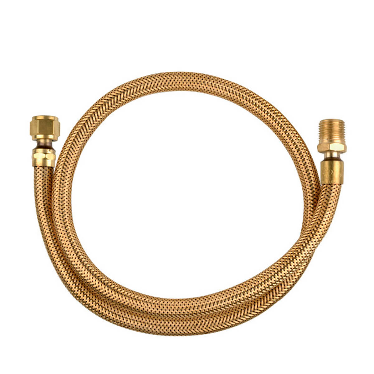 Ligação Flex Tombak 1,20M GLP/GN Diam. 3/8 1/2 BSP (IXE) Jackwal - 15829/1360