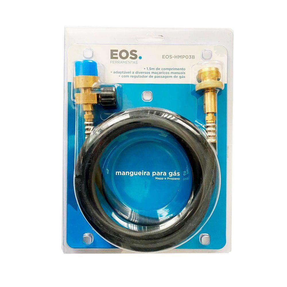 Mangueira Para Maçarico De Solda EOS Com Regulador 1,50M - EOS-HMP-03B
