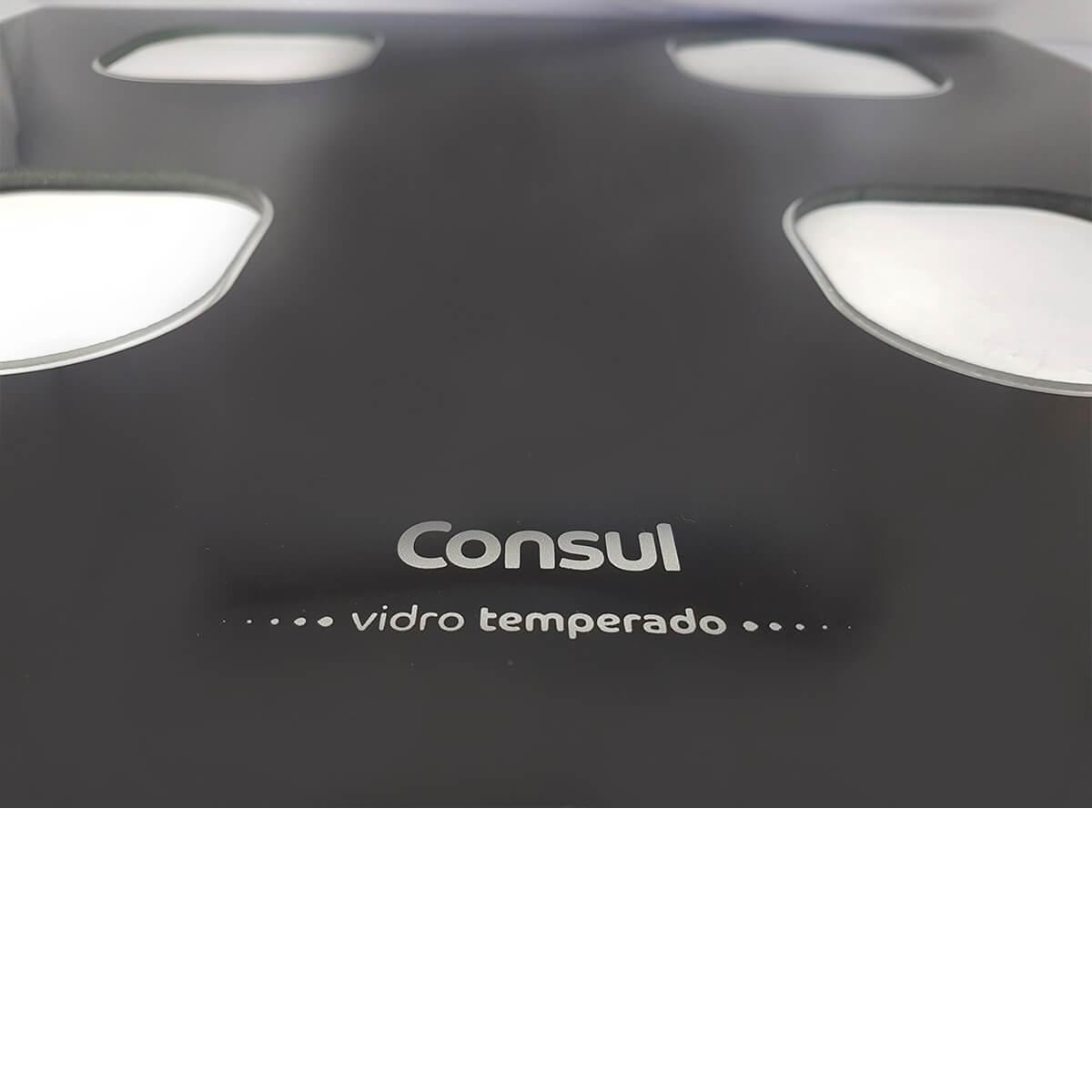 Mesa Trabalho Vidro Preto Para Fogão 4 Bocas Consul -  W10805272