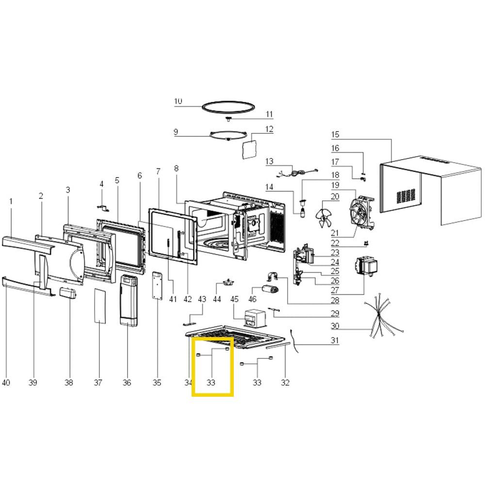 Pé Encaixe Para Microondas Electrolux - 67492890