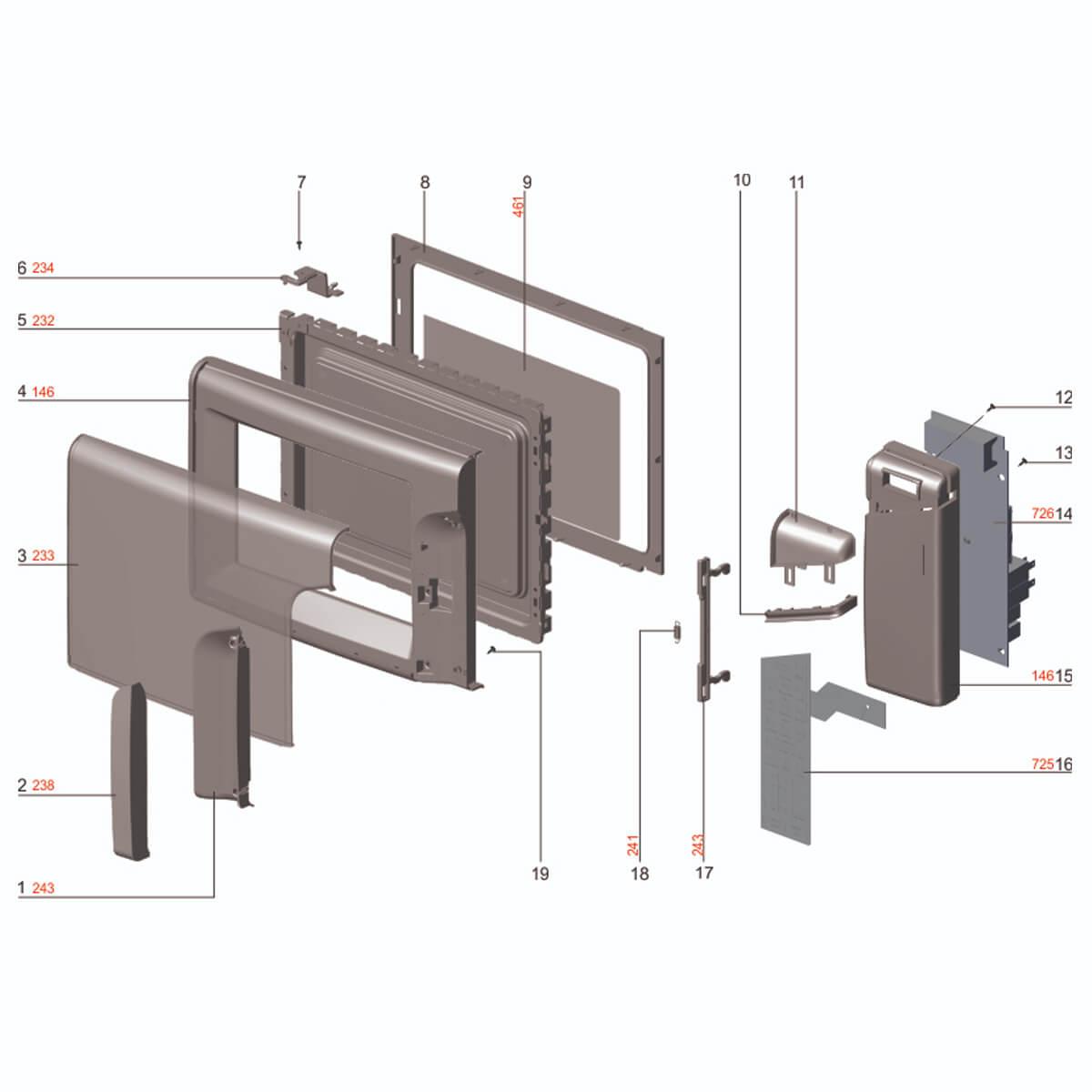 Placa De Controle Bivolt Para Micro-ondas Electrolux MEP37 - 70003360 A20745301