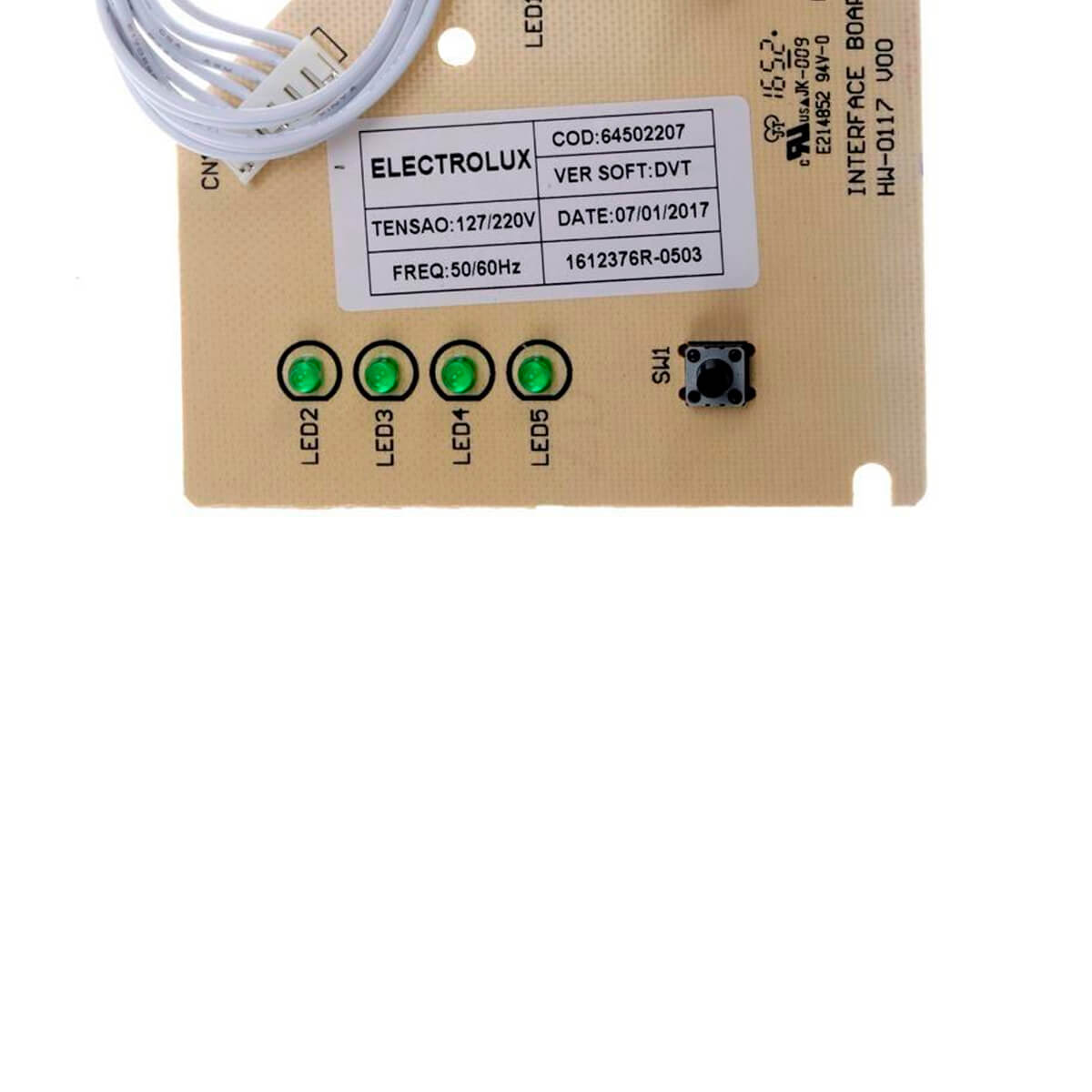 Placa De Interface Para Lavadora De Roupas Electrolux LTE12 - 64502207