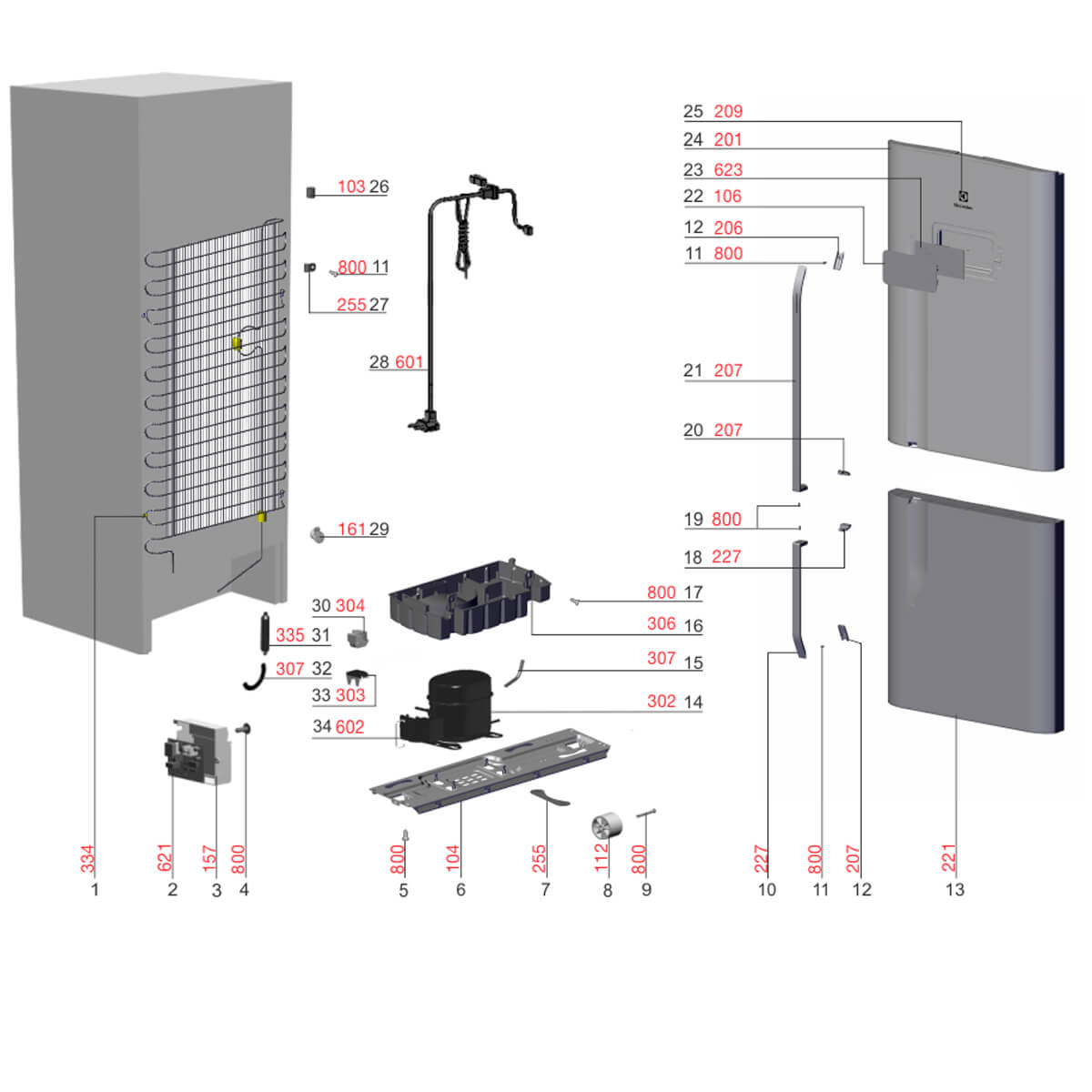 Placa De Interface Para Geladeira  Electrolux DB53 DB53X IB53 IB53X - A99293604