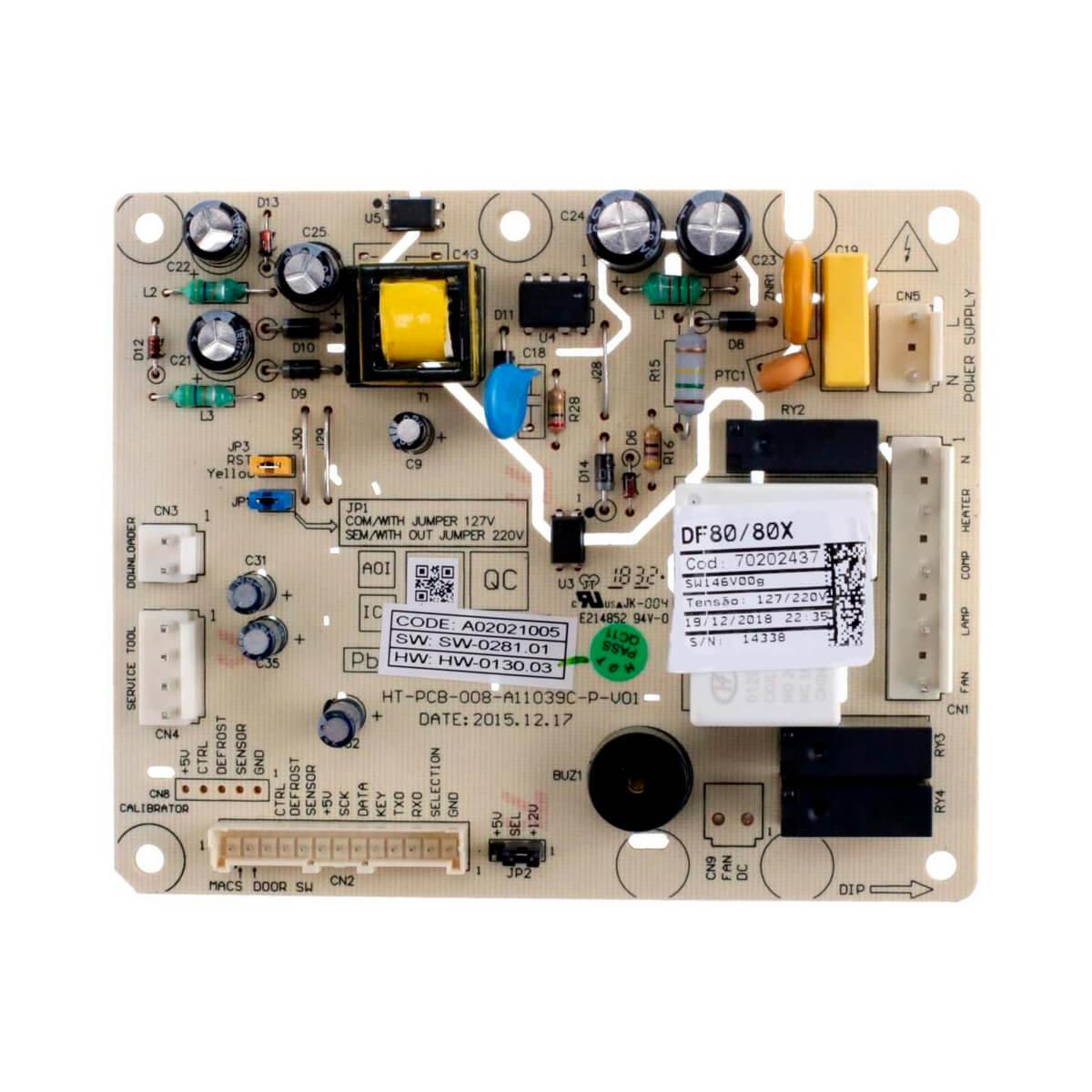 Placa De Potência ERF1500 Para Refrigerador Frost Free Electrolux DF80 DF80X - 70202437