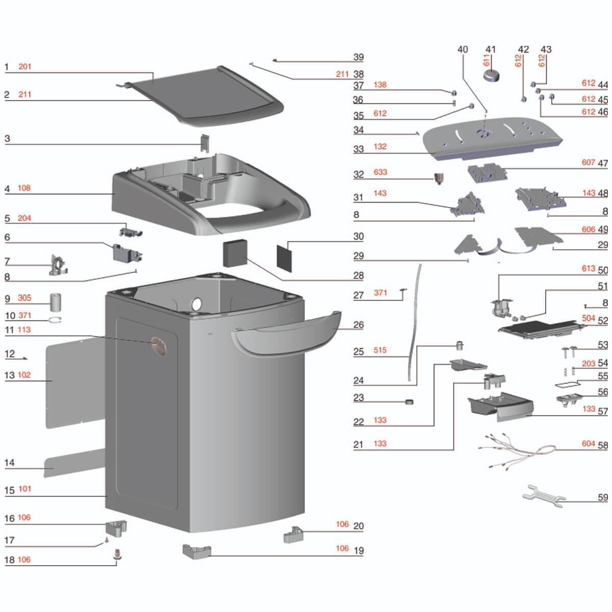 Placa De Potência Para Lavadora De Roupas Electrolux LTD16 - A99035108 A99035184
