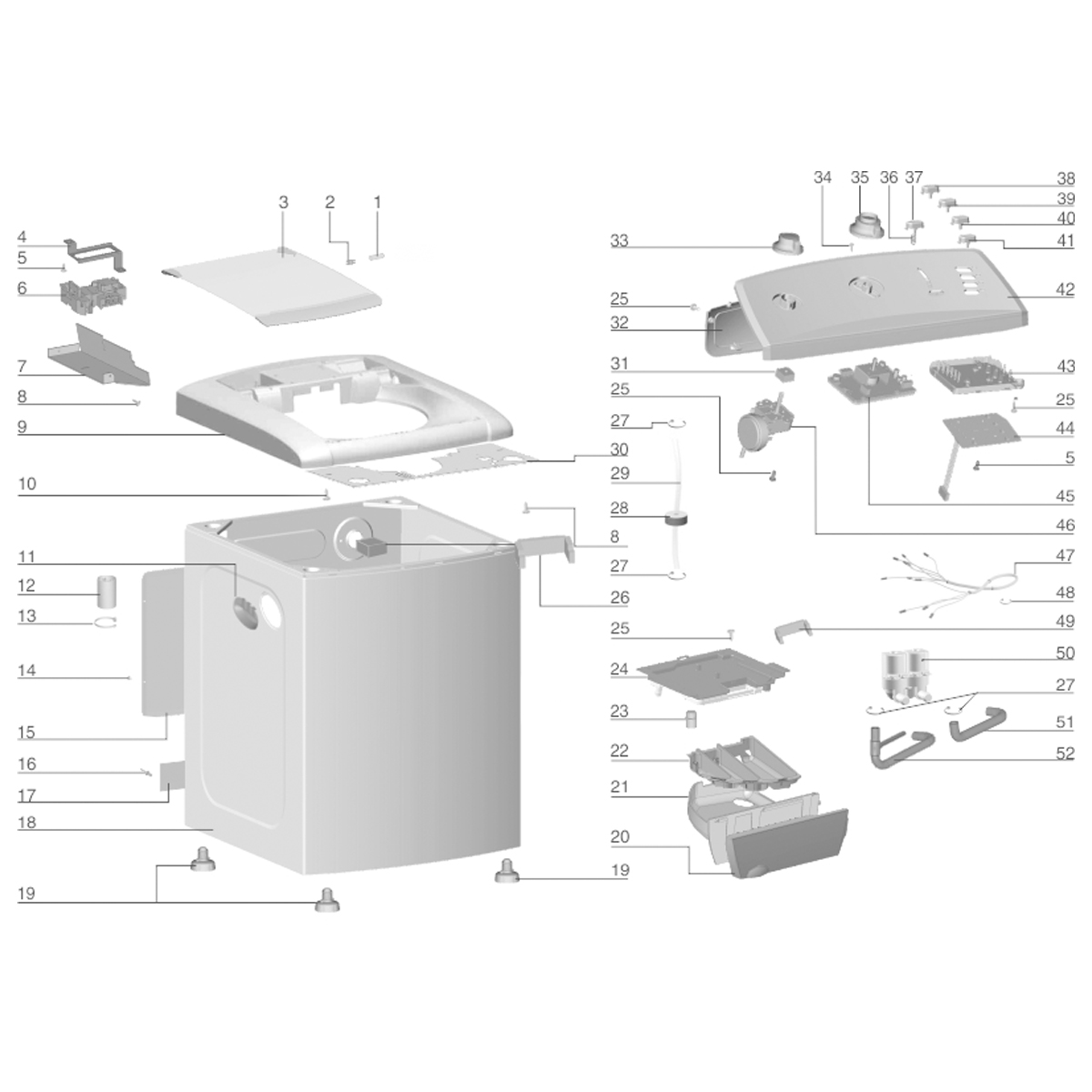 Placa De Potência Para Lavadora De Roupas Top Load 12kg Electrolux LT12B - A99035101