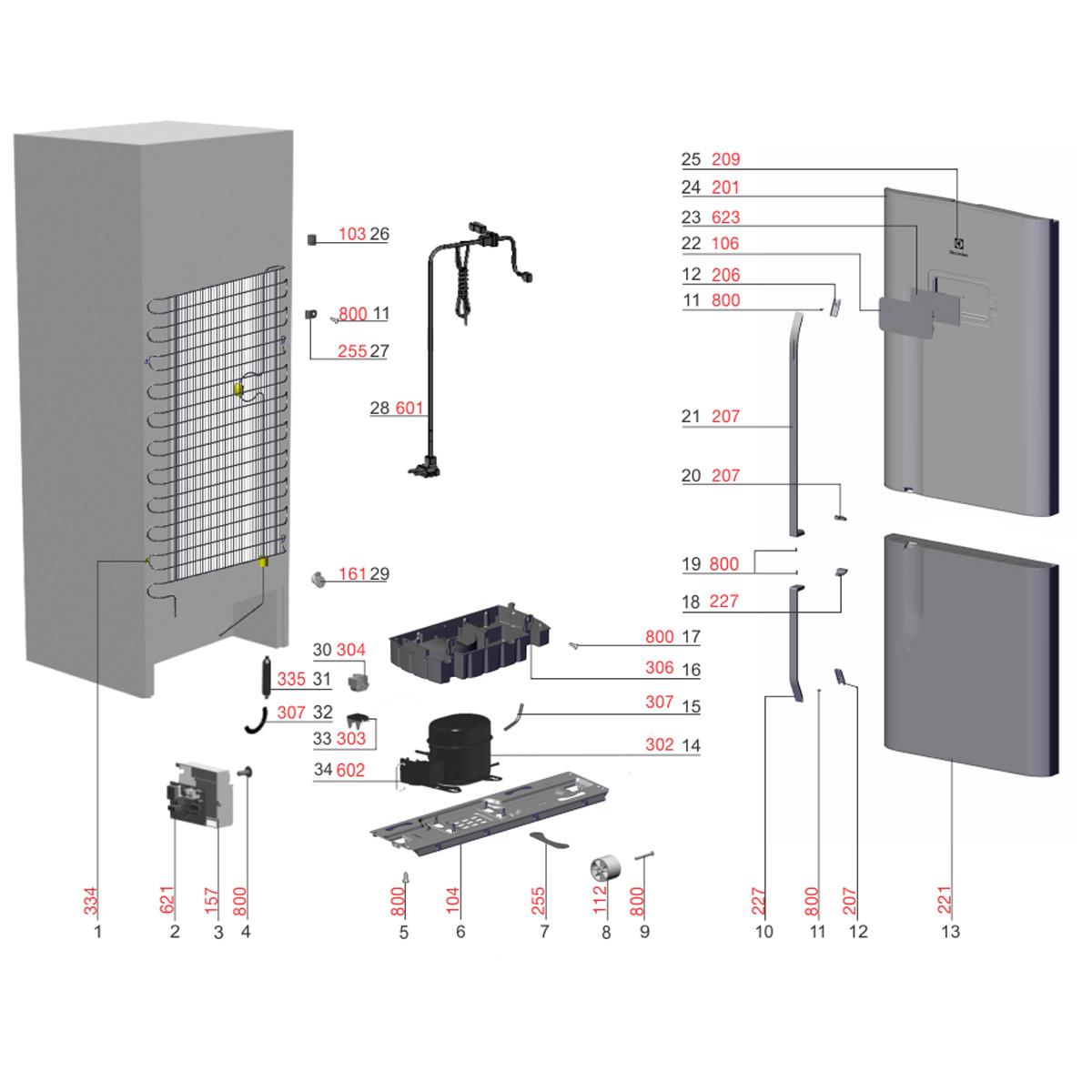 Placa De Potência Para Refrigerador Frost Free Electrolux DFI80 DI80X DT80X - 70203227