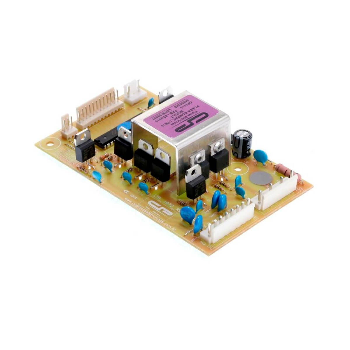 Placa Eletrônica CP Bivolt Para Lavadora De Roupas Electrolux EW110GVCW LTR10 EW110GVYW -  64800246