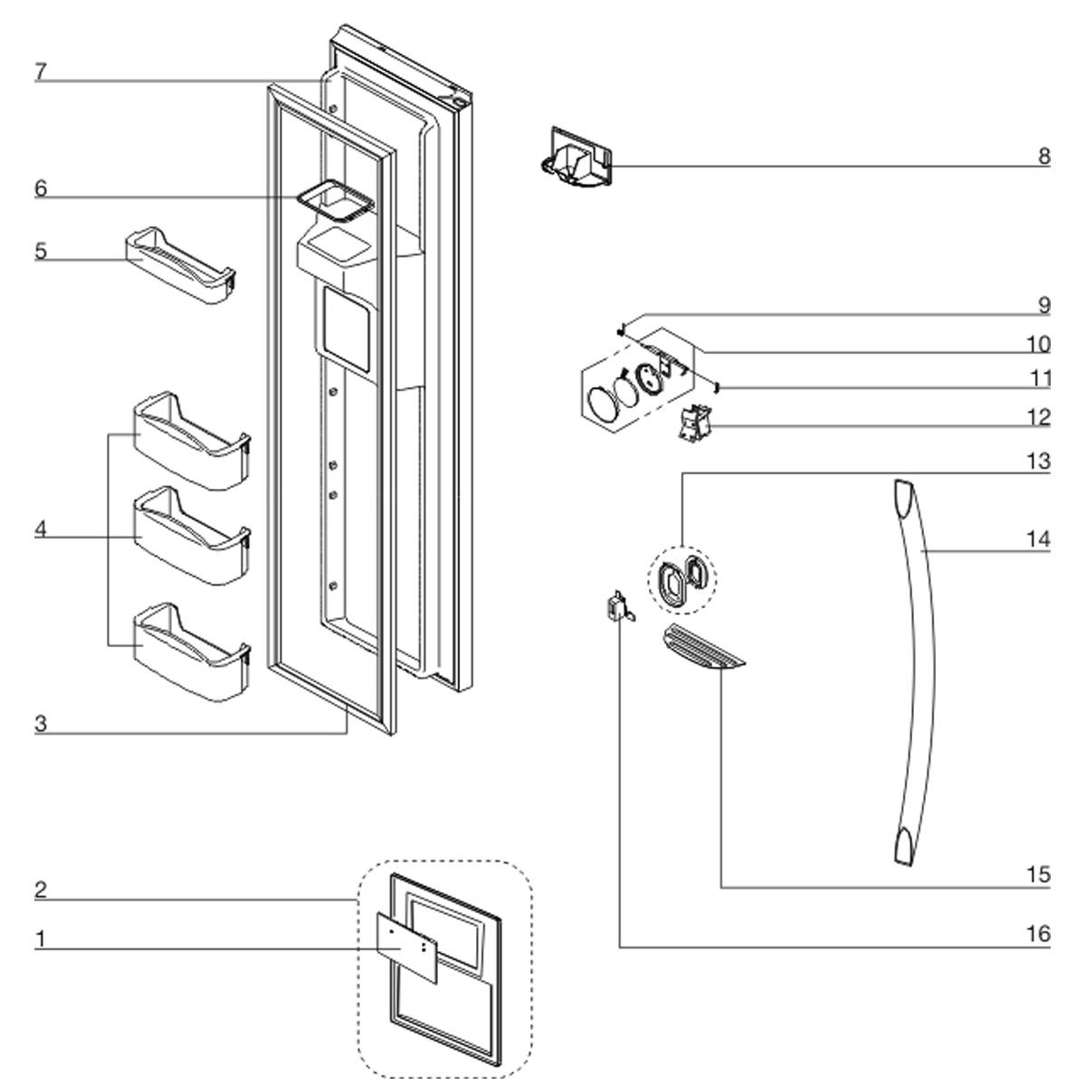 Placa Eletrônica De Interface Refrigerador Electrolux SH72X SS72X SS91X - 30143KR160 A08397801