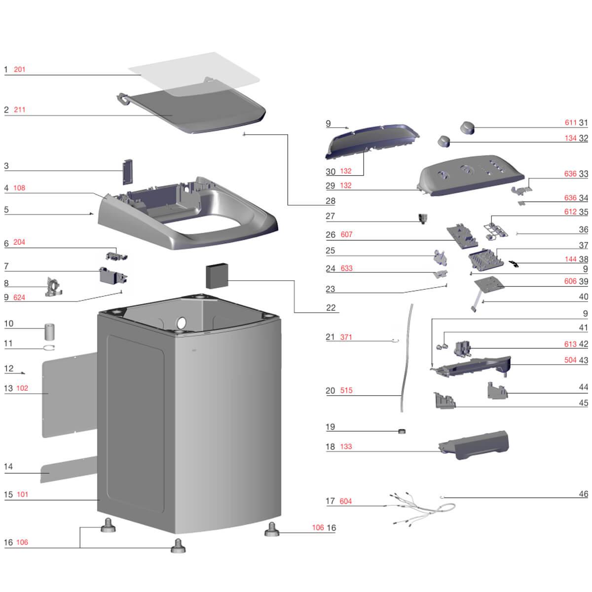 Placa Eletrônica De Programas Lavadora De Roupas Electrolux LWI13 - A13611014